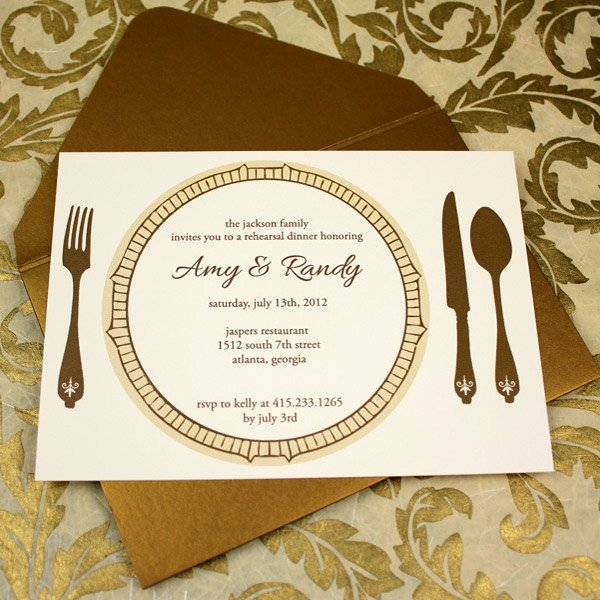 Dinner Invitation Template Free Printable Best Of Invitation Template – Elegant Rehearsal Dinner Invitation
