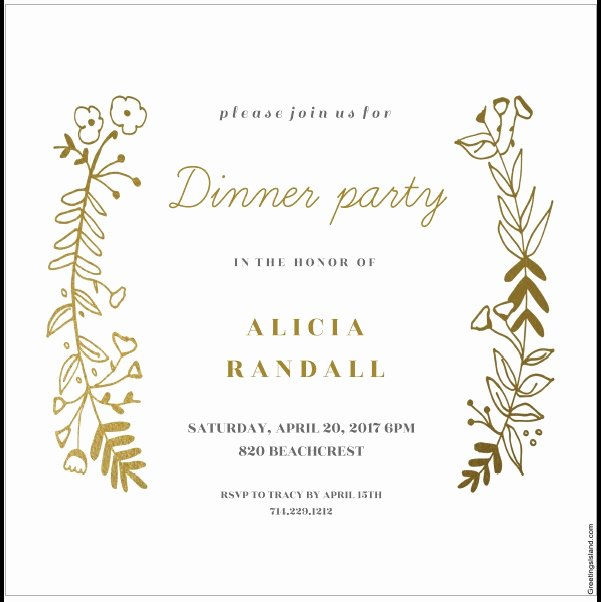 Dinner Invitation Template Free Printable Elegant 12 Free Sample Dinner Invitation Card Templates