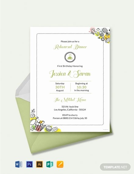 Dinner Invitation Template Free Printable Elegant 28 Free Dinner Invitation Templates Word
