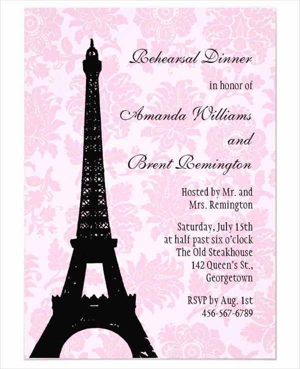 Dinner Invitation Template Free Printable Elegant 62 Printable Dinner Invitation Templates Psd Ai Word