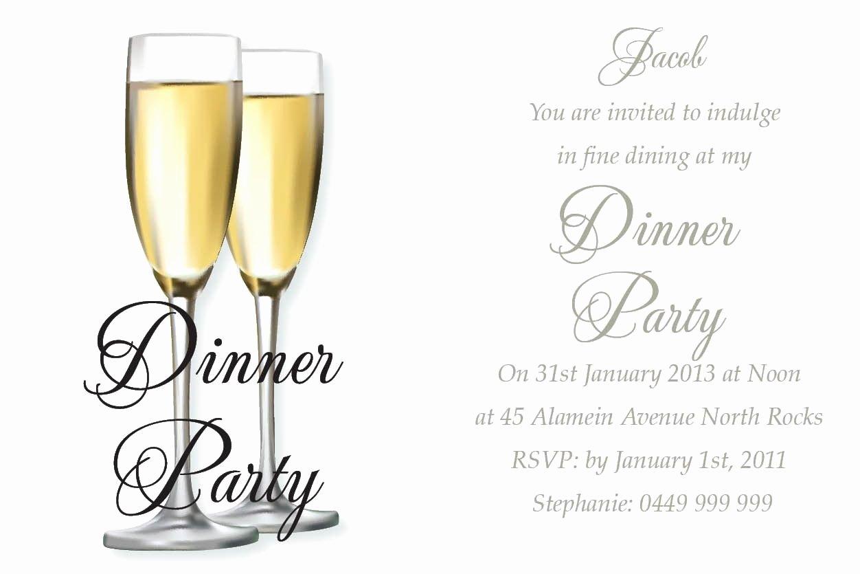 Dinner Invitation Template Free Printable Elegant Awesome Birthday Dinner Invitation Wording Ideas