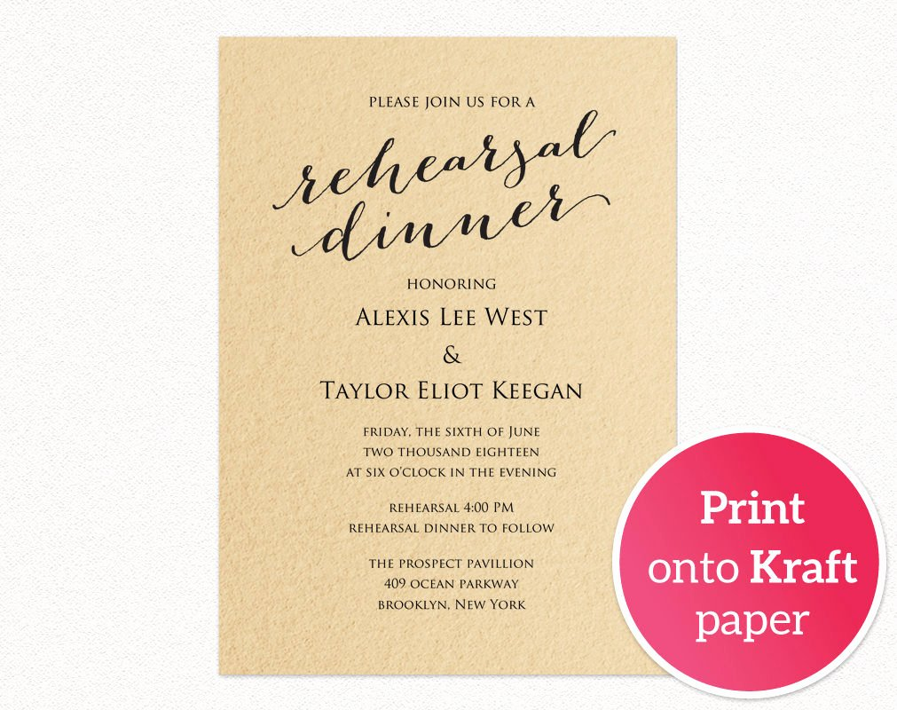 Dinner Invitation Template Free Printable Fresh Rehearsal Dinner Invitation Template · Wedding Templates