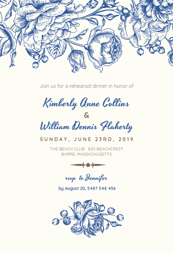 Dinner Invitation Template Free Printable Inspirational touch Of Rose Rehearsal Dinner Party Invitation Template