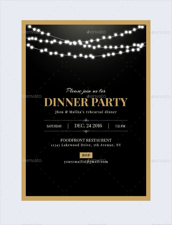 Dinner Invitation Template Free Printable Lovely 47 Dinner Invitation Templates Psd Ai