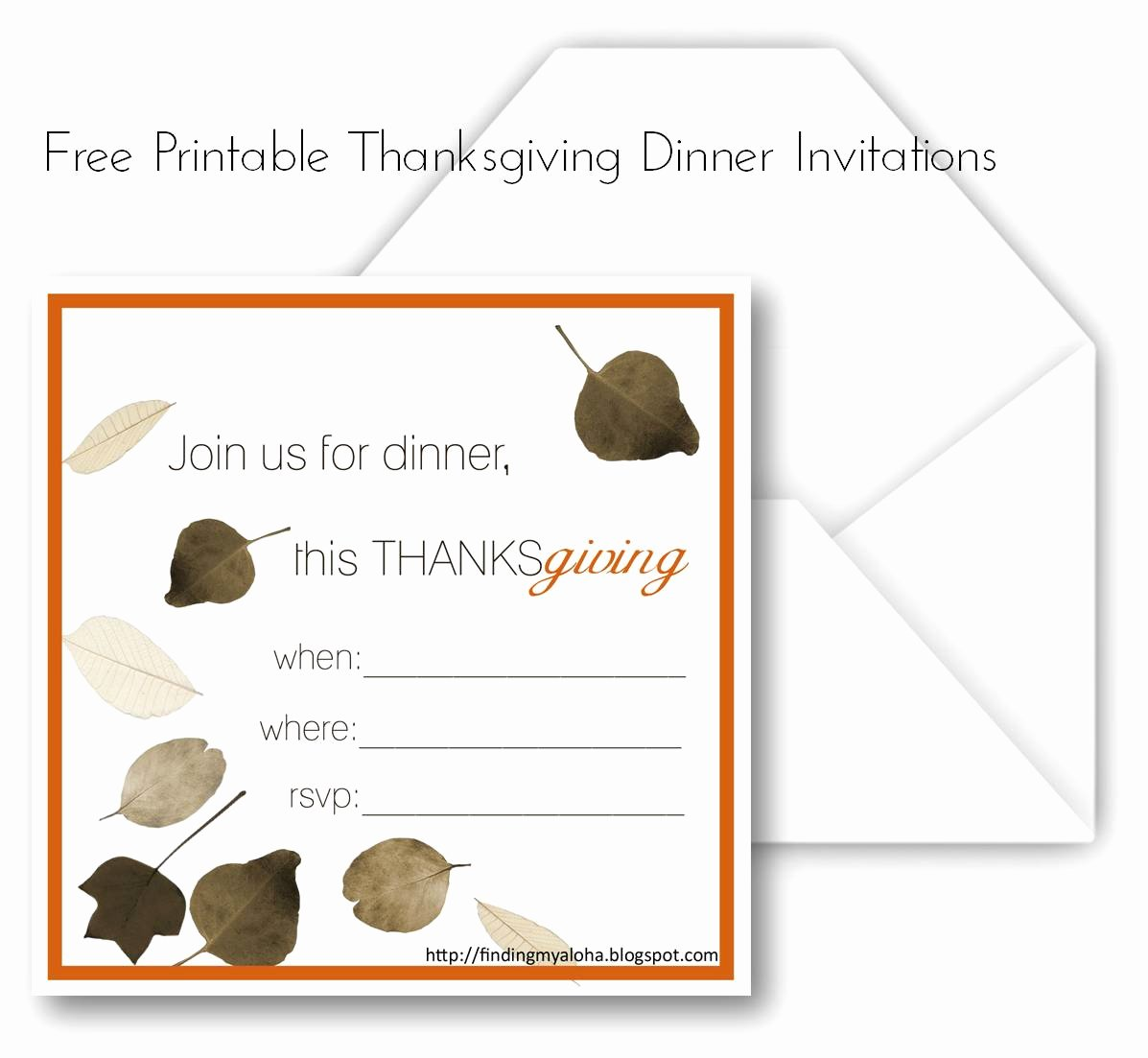 Dinner Invitation Template Free Printable Lovely Free Printable Thanksgiving Dinner Invitations