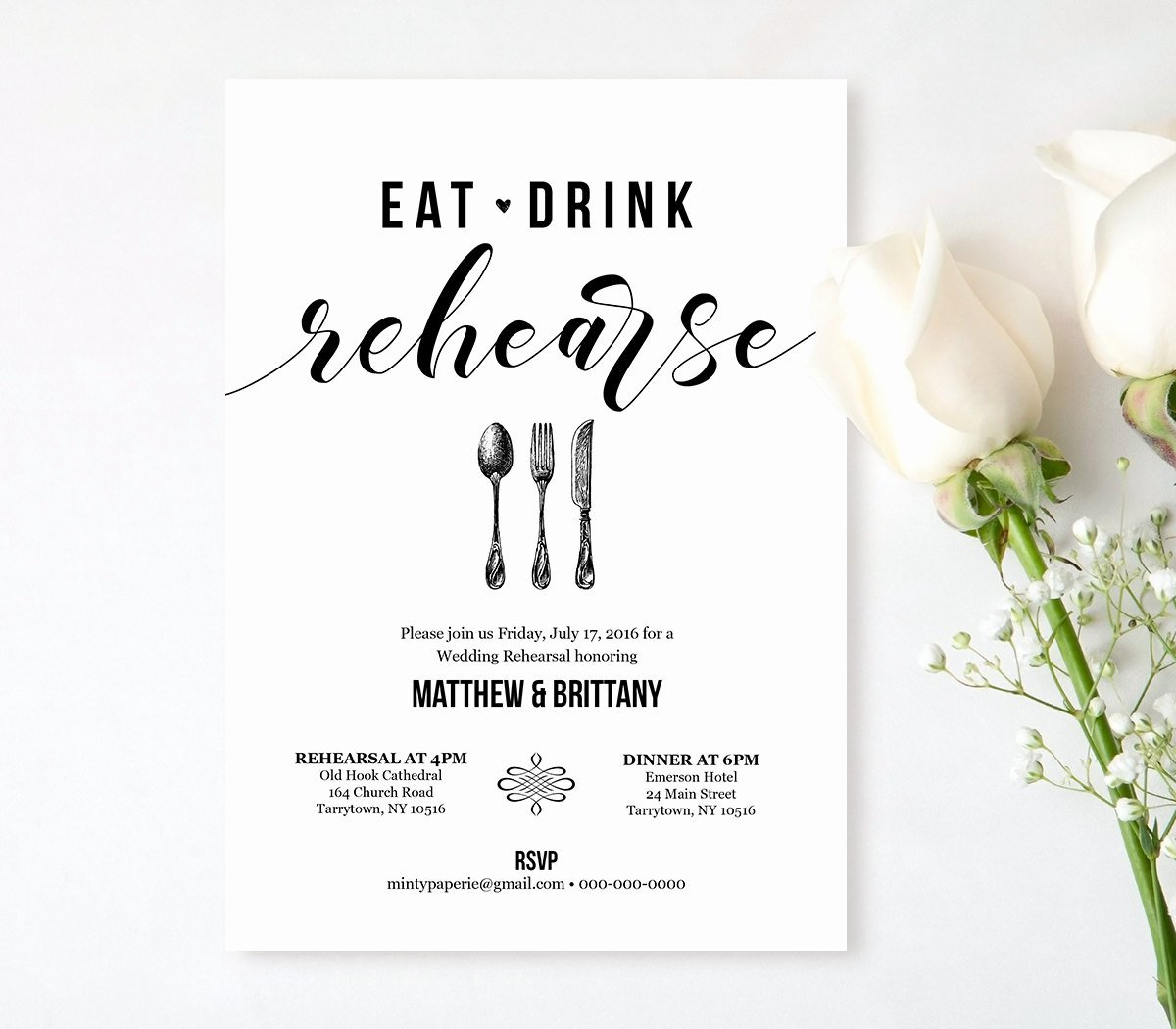 Dinner Invitation Template Free Printable Lovely Rehearsal Dinner Invitation Template