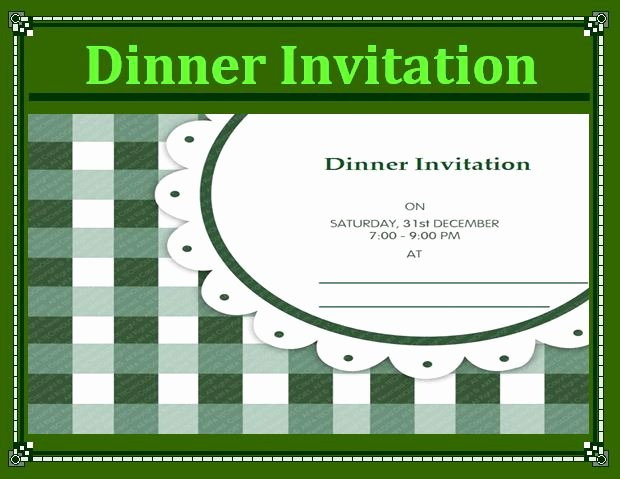 Dinner Invitation Template Free Printable New Free Word Templates Part 2
