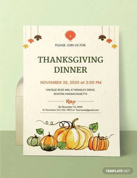 Dinner Invitation Template Word Beautiful 27 Sample Thanksgiving Invitations Psd Vector Eps