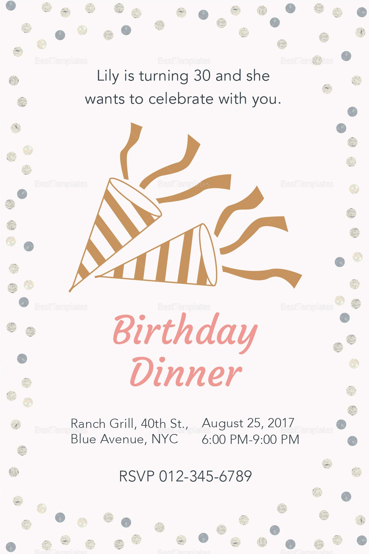 Dinner Invitation Template Word Best Of Birthday Dinner Invitation Design Template In Psd Word