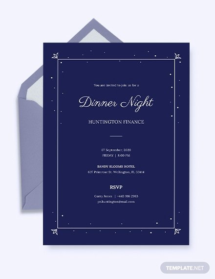 Dinner Invitation Template Word Elegant 49 Dinner Invitation Templates Psd Ai Word