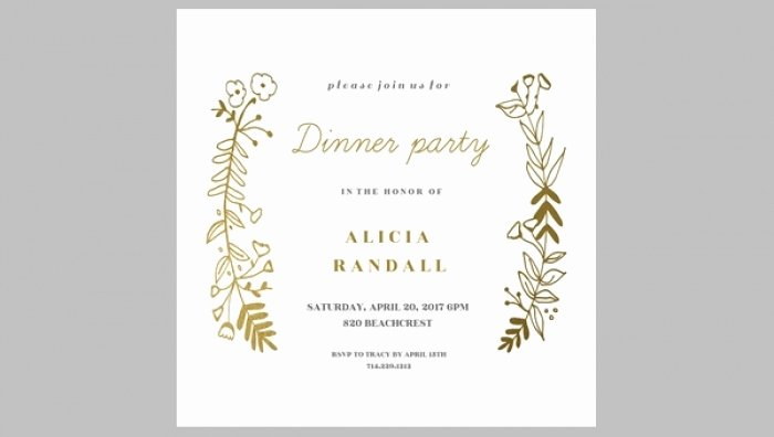 Dinner Invitation Template Word Elegant Cool Free Dinner Party Invitation Templates Ideas