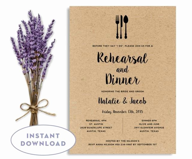Dinner Invitation Template Word Elegant Rehearsal Dinner Invitation Template Wedding Rehearsal