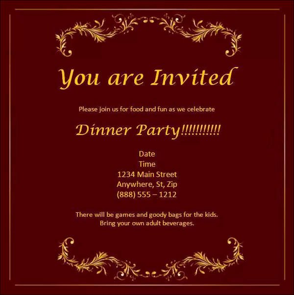 Dinner Invitation Template Word Inspirational 52 Meeting Invitation Designs