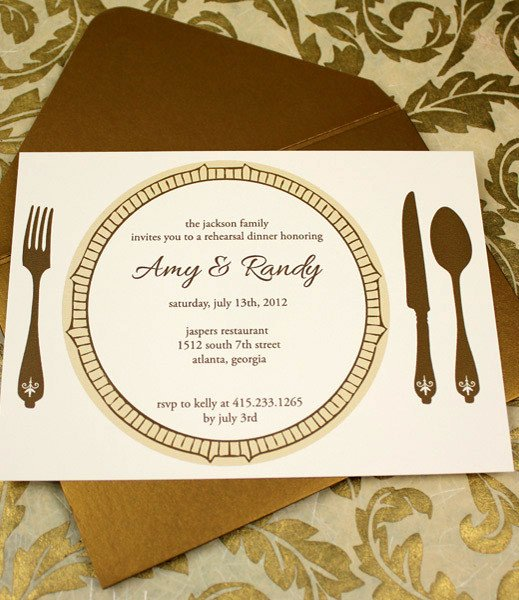 Dinner Invitation Template Word Inspirational Invitation Template – Elegant Rehearsal Dinner Invitation