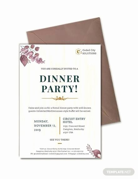 Dinner Invitation Template Word Luxury 33 Dinner Invitation Templates Psd Vector Eps Word