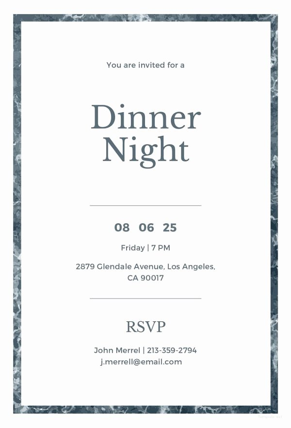 Dinner Invitation Template Word Luxury 40 Dinner Invitation Templates Free Sample Example