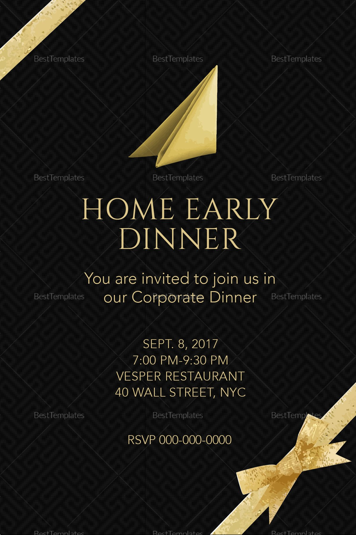 Dinner Invitation Template Word Luxury Corporate Dinner Invitation Design Template In Psd Word