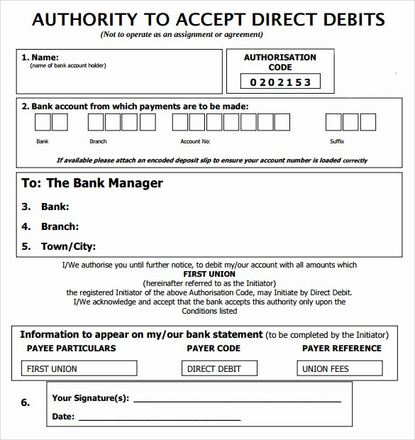Direct Deposit form Template Word Best Of Direct Debit form 10 Download Free Documents In Pdf Word