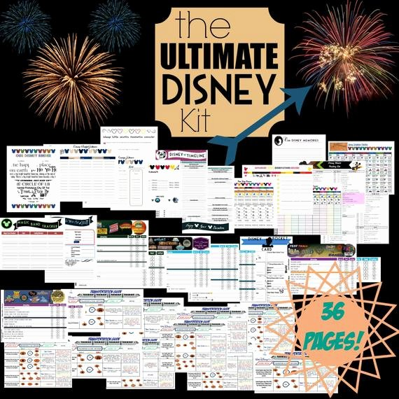 Disney Vacation Planner Template Inspirational Ultimate Disney Planner Kit Printable Disney Planning