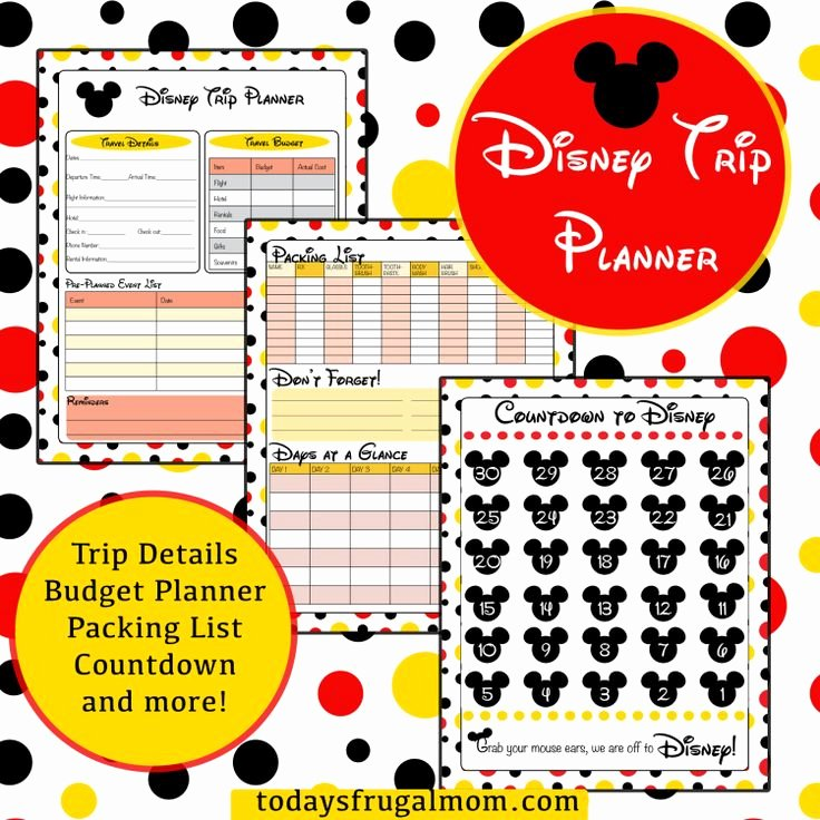 Disney Vacation Planner Template New 164 Best Disney Printables Images On Pinterest