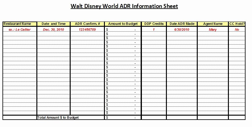 Disney Vacation Planner Template Unique Affordable Disney Vacation Planning Worksheets