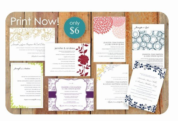 Diy Wedding Invitation Template Free Awesome Diy Wedding Invitation Templates