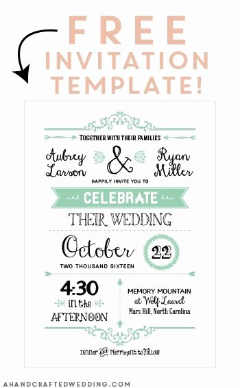Diy Wedding Invitation Template Free Awesome Free Printable Wedding Invitation Template