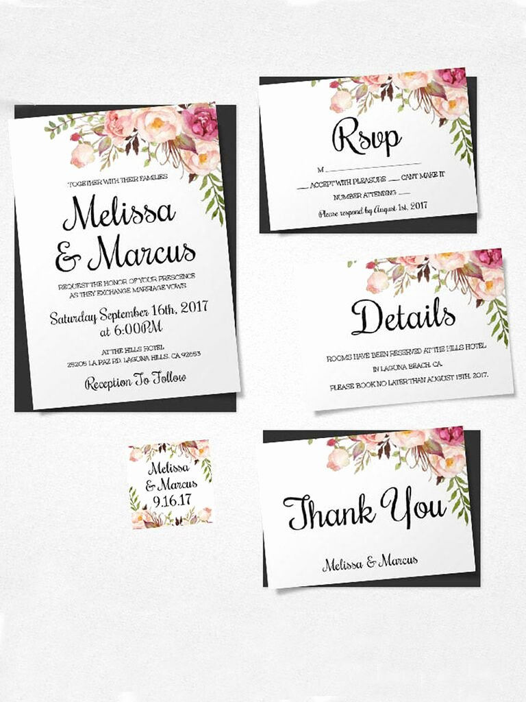 Diy Wedding Invitation Template Free Beautiful 16 Printable Wedding Invitation Templates You Can Diy