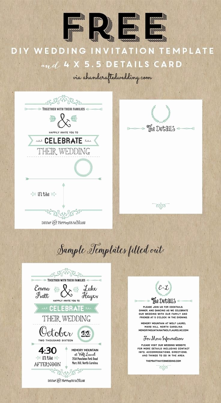 Diy Wedding Invitation Template Free Fresh Diy Wedding Invitations Templates