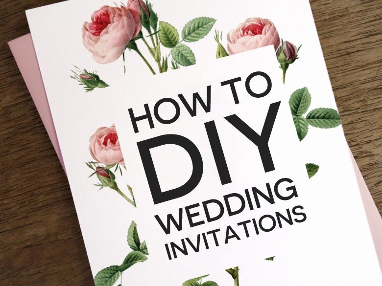 Diy Wedding Invitation Template Free Fresh How to Diy Wedding Invitations
