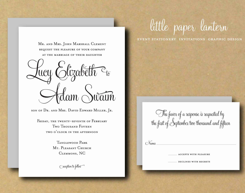 Diy Wedding Invitation Template Free Inspirational Wedding Invitation Template Custom Diy Printable Wedding