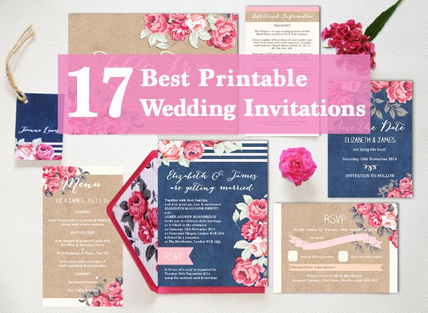 Diy Wedding Invitation Template Free New 17 the Best Printable Wedding Invitations Ever