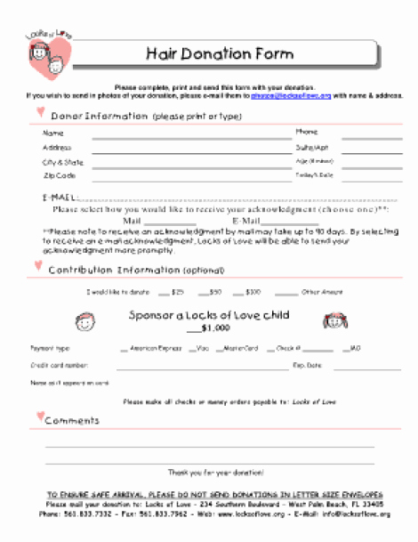 Donation form Template Free Awesome 36 Free Donation form Templates In Word Excel Pdf