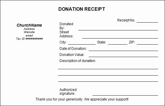 Donation form Template Free Awesome Sample Donation Receipt Template 17 Free Documents In