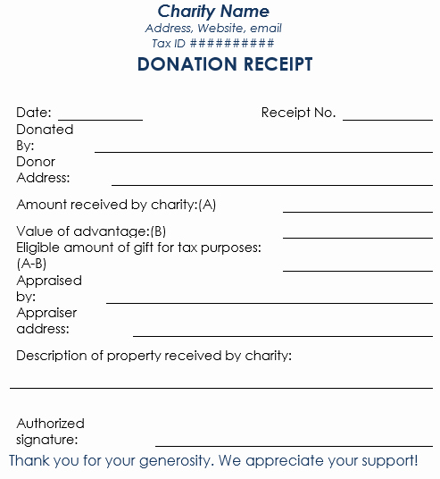 Donation form Template Free Best Of Donation Receipt Template 12 Free Samples In Word and Excel
