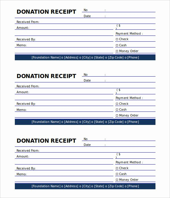 Donation form Template Free Best Of the Proper Receipt format for Payment Received and General