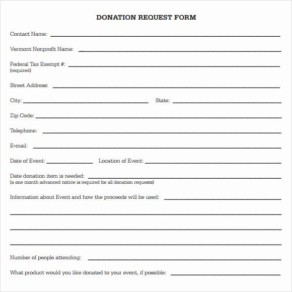 Donation form Template Free Lovely Free Donation Request form Template