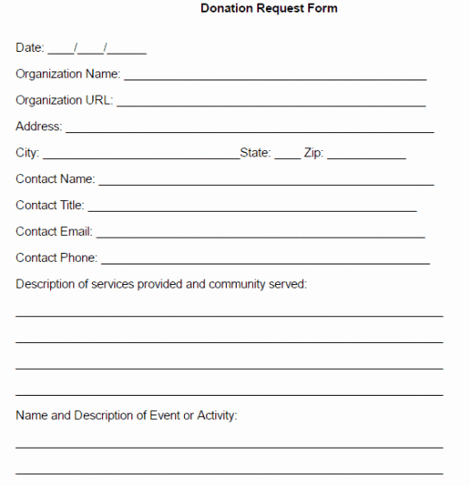 Donation form Template Free New 36 Free Donation form Templates In Word Excel Pdf