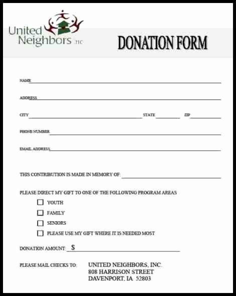 Donation form Template Pdf Awesome 36 Free Donation form Templates In Word Excel Pdf