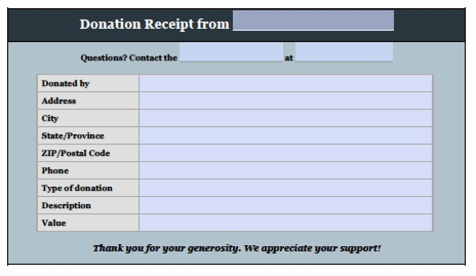 Donation form Template Pdf Beautiful Free Donation Invoice Template Receipt Excel