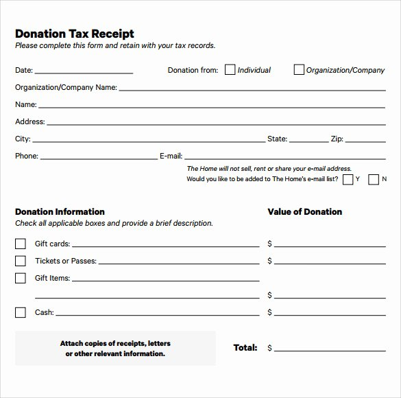 Donation form Template Pdf Luxury Free 20 Donation Receipt Templates In Pdf