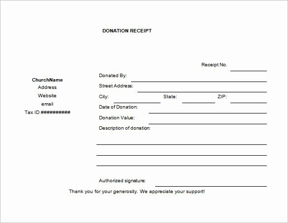 Donation form Template Pdf Unique 10 Donation Receipt Templates Doc Pdf