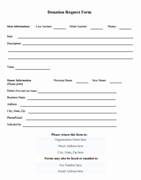 Donation form Template Pdf Unique 36 Free Donation form Templates In Word Excel Pdf