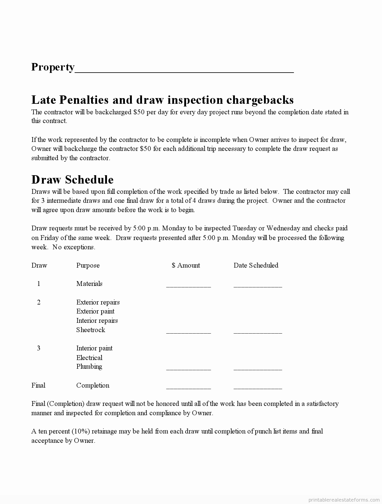 Draw Request form Template Elegant Free Printable Subcontractor Agreement form Word
