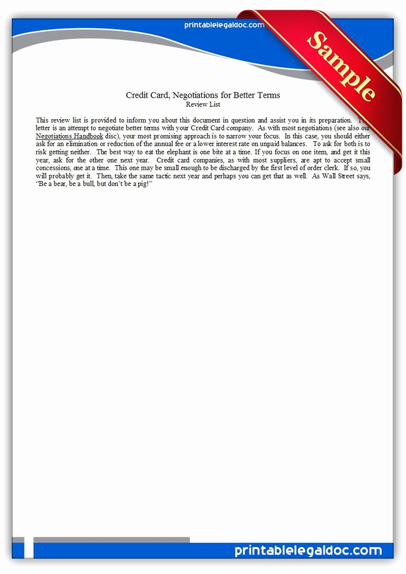 Draw Request form Template Inspirational Free Printable Credit Card Negotiations for Better Terms