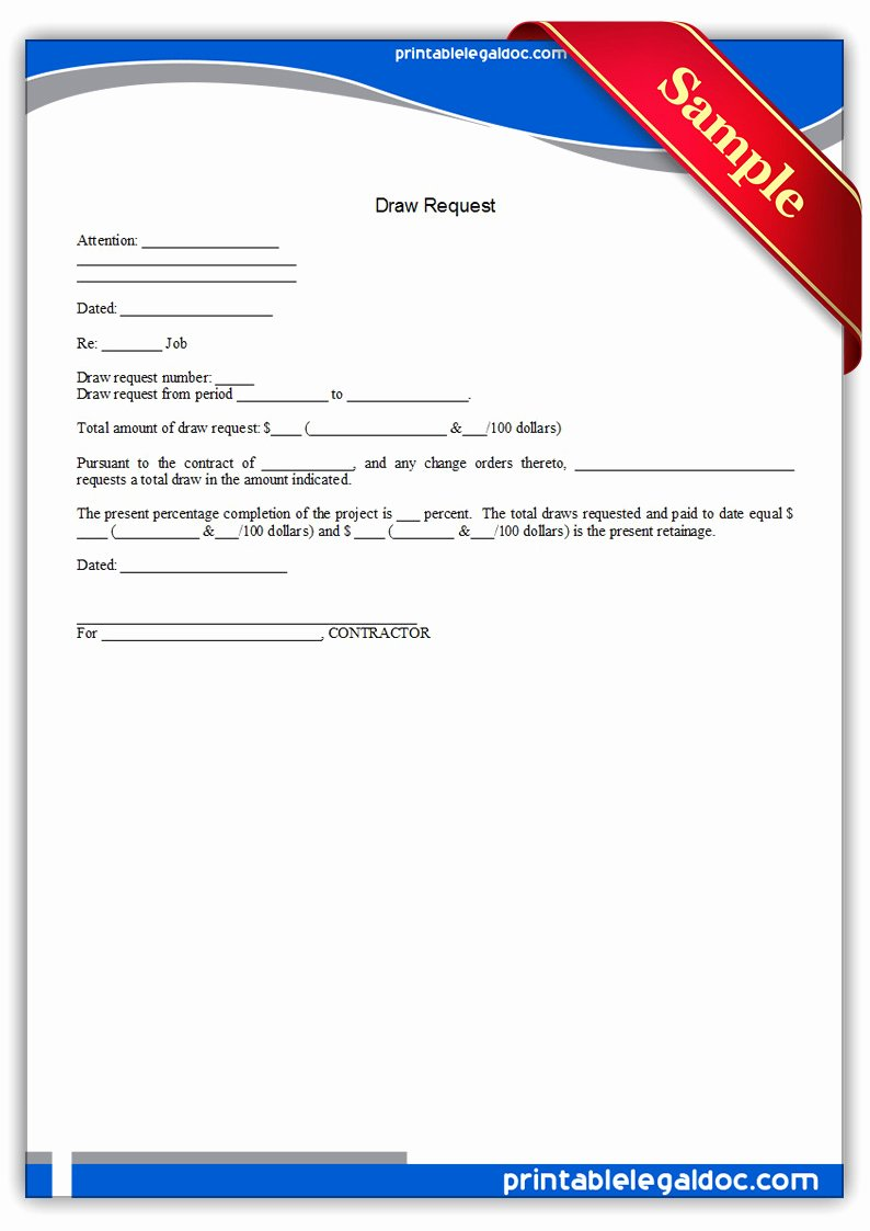 Draw Request form Template Luxury Free Printable Draw Request form Generic