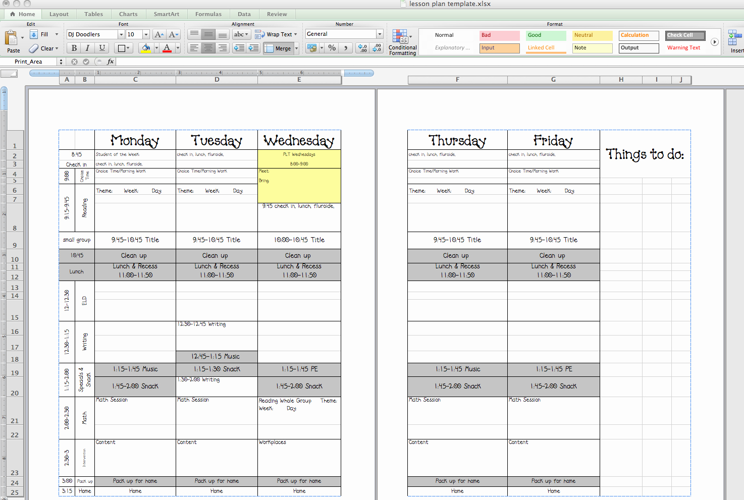 Eld Lesson Plan Template Unique Best S Of Excel Lesson Plan Template Esl Lesson