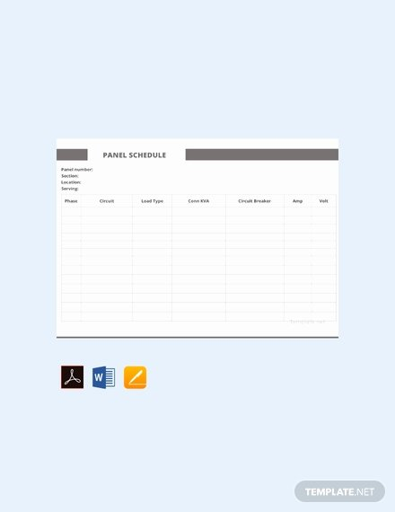 Electrical Panel Schedule Template Download Awesome Free Electrical Panel Schedule Template Download 173
