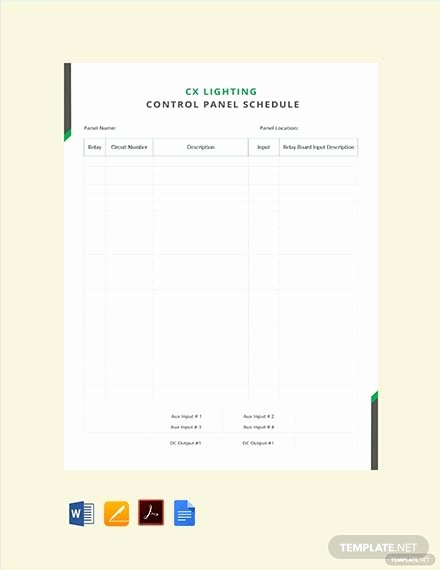 Electrical Panel Schedule Template Download Best Of Free Electrical Panel Schedule Template Download 173