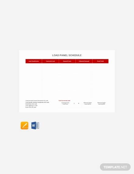 Electrical Panel Schedule Template Download Elegant Free Electrical Panel Schedule Template Download 173